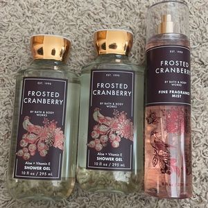 Bath & Body Works Frosted Cranberry Bundle